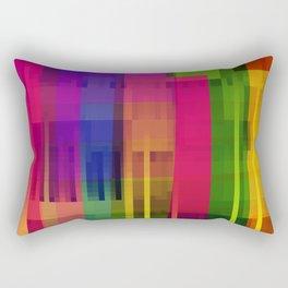 pushin' color Rectangular Pillow
