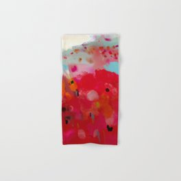 red poppies field abstract Hand & Bath Towel