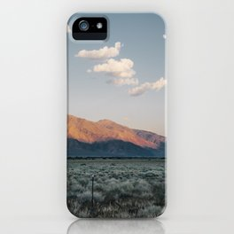 Sierra Mountains with Harvest Moon iPhone Case