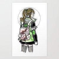 sailor jupiter Art Prints featuring Sailor Jupiter by Helen Mask