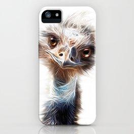 Luminous Emu Art iPhone Case