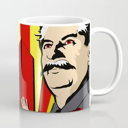 Stalin portrait red scare soviet union poster Coffee Mug