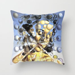 Salvador Dalí, Galatea of the Spheres 1952, Restored Artwork for Wall Art, Prints, Posters, Tshirts, Men, Women, Kids Throw Pillow
