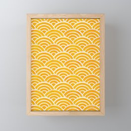 Japanese Seigaiha Wave – Marigold Palette Framed Mini Art Print