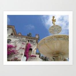 Castle fountain Art Print