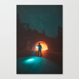 Searching The Tunnels Of Yosemite Canvas Print