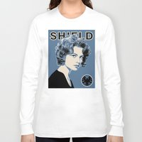 agent carter Long Sleeve T-shirts featuring Director Carter by Arne AKA Ratscape