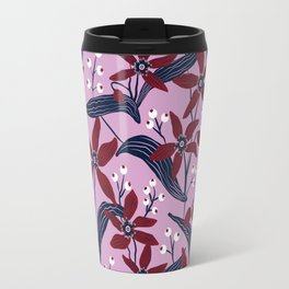Orchid & Navy Floral Travel Mug