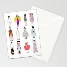 Outfits of Bjork Fashion Stationery Cards