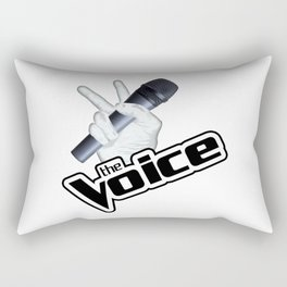 The Voice Hand Mic 2 shadow Rectangular Pillow