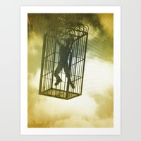 cage Art Prints featuring Cage by Azure Cricket