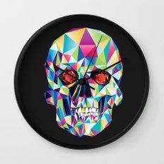 Geometric Candy Skull Wall Clock