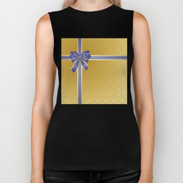 Gift wrapped in blue and gold Biker Tank