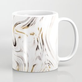 Liquid Gold Silver Black Marble #1 #decor #art #society6 Coffee Mug