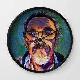 Portrait of the Artist Smirking Wall Clock