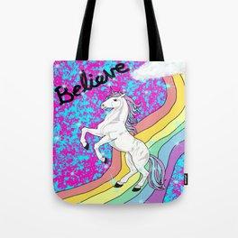 Believe (Unicorn) Tote Bag