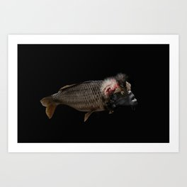 The Swamp Fish Witch Art Print