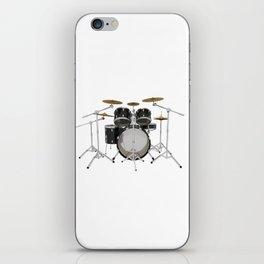 Black Drum Kit iPhone Skin