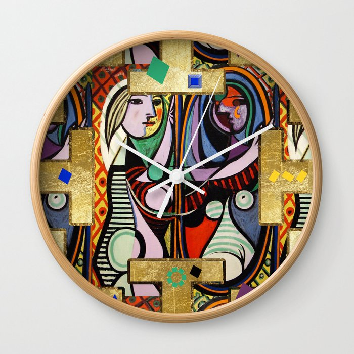 Picasso Collage Wall Clock By Lalachandra Society6