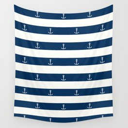 SAILORS ANCHOR STRIPES Wall Tapestry