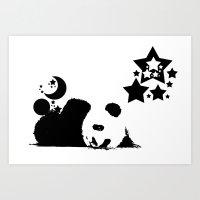 sleep Art Prints featuring Sleep by Panda Cool