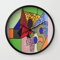 wild things Wall Clocks featuring Wild things by tmens