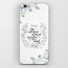 The Secret Garden - She Made Herself Stronger iPhone Skin