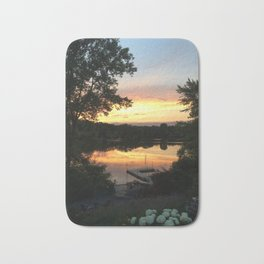 Lake Sunset Bath Mat