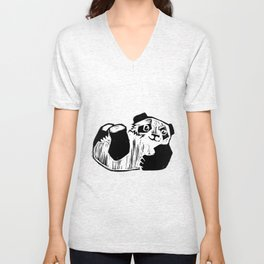 Panda Play Unisex V-Neck