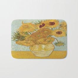 Vincent van Gogh's Sunflowers Bath Mat