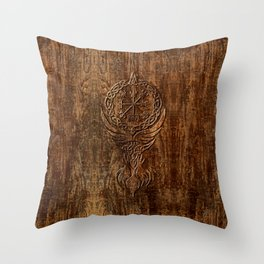 Vegvisir Old Norse Rune Viking mythology Throw Pillow