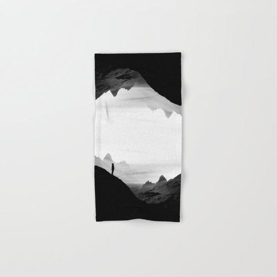black wasteland isolation Hand & Bath Towel