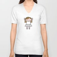 ballet V-neck T-shirts featuring Ballet by oekie