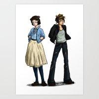 50s Art Prints featuring 50s Ladies by SamKatDiz