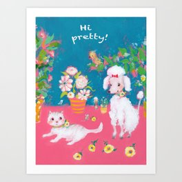 Pretty pets Art Print