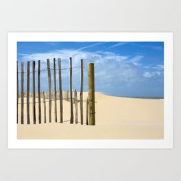 Fence in the sand Art Print