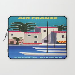 Vintage poster - French Riviera Laptop Sleeve