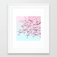 cherry blossoms Framed Art Prints featuring Cherry Blossoms by Nina Baydur