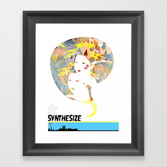 SYNTHESIZE Framed Art Print