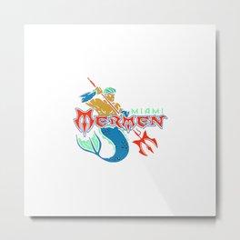 Miami Mermen Metal Print