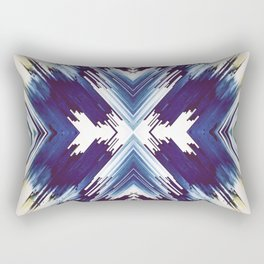 Dark Blue Aztec Inspired Design Rectangular Pillow