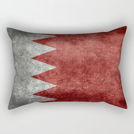 The flag of the Kingdom of Bahrain - Vintage version Rectangular Pillow