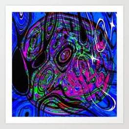 Psychedelic Universe Art Print