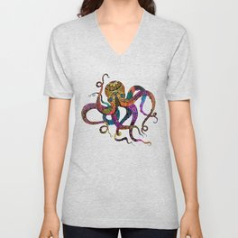 Electric Octopus Unisex V-Neck