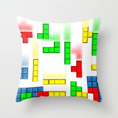 Funny Tetris Throw Pillow