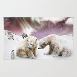 Polar Bears and Penguin Rug
