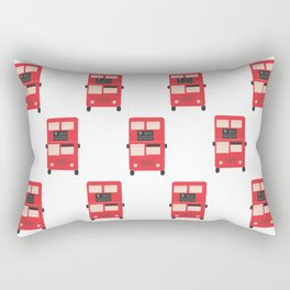 Red Double Decker Bus Pattern - London Rectangular Pillow