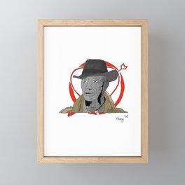 Valentine's Detective Agency tattoo flash Framed Mini Art Print