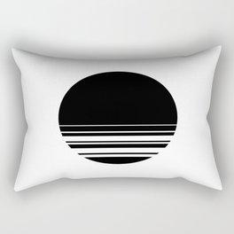 Black Whole Sun Rectangular Pillow