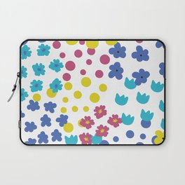 Flowers and Dots Galore Laptop Sleeve